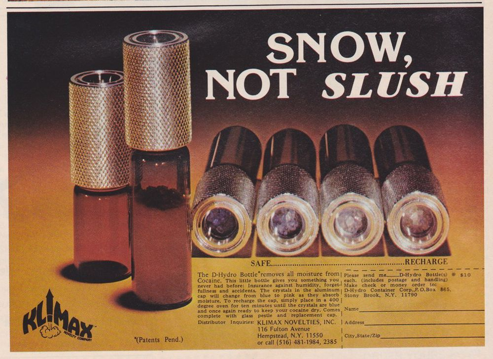 asi anunciaban productos relacionados con la cocaina en las revistas de los años 70 y 80 12