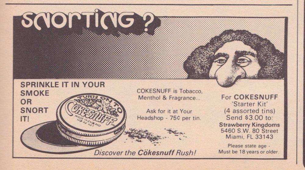 asi anunciaban productos relacionados con la cocaina en las revistas de los años 70 y 80 13