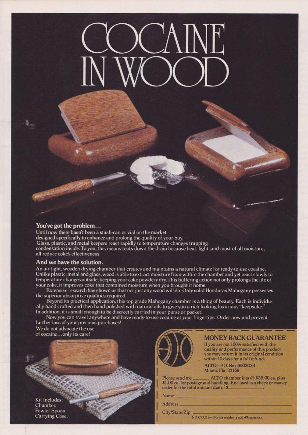 asi anunciaban productos relacionados con la cocaina en las revistas de los años 70 y 80 15