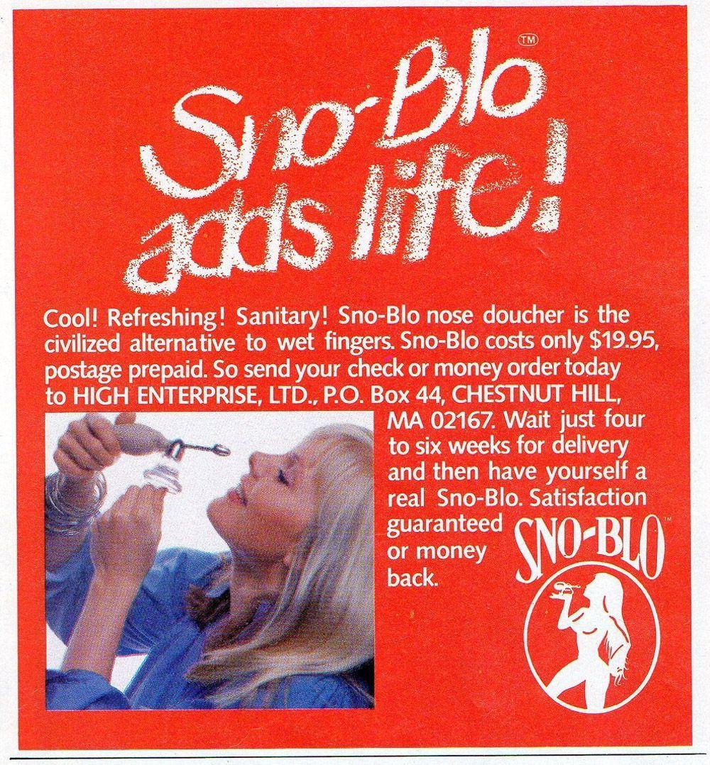 asi anunciaban productos relacionados con la cocaina en las revistas de los años 70 y 80 17