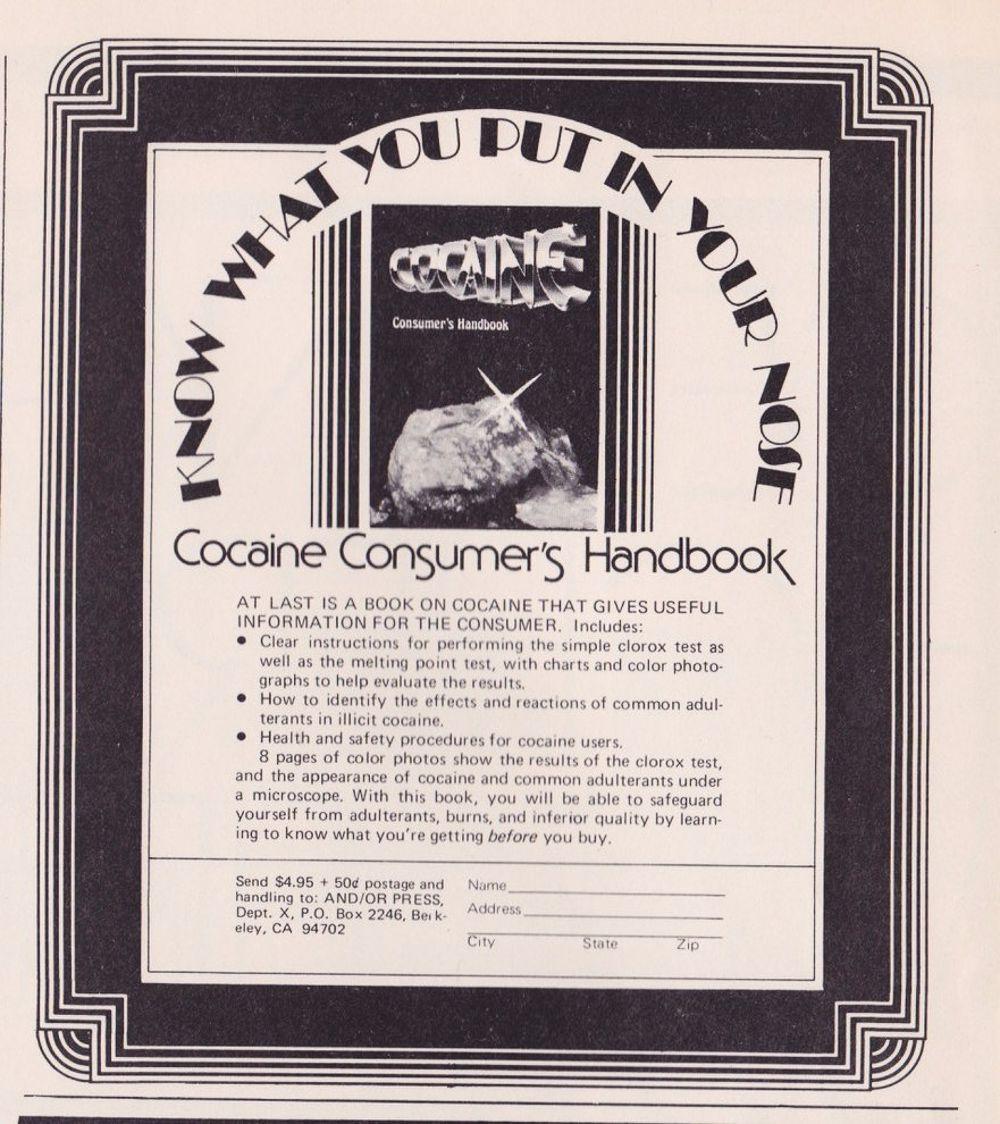 asi anunciaban productos relacionados con la cocaina en las revistas de los años 70 y 80 18