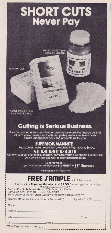 asi anunciaban productos relacionados con la cocaina en las revistas de los años 70 y 80 20