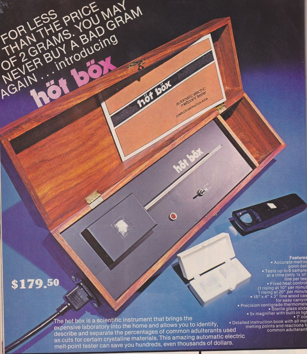 Así vendían productos relacionados con la cocaína en los 70