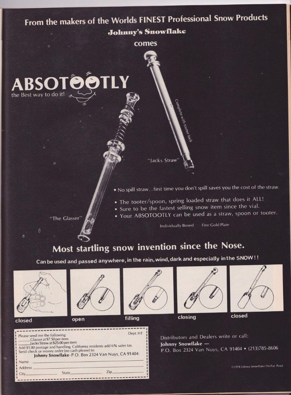 asi anunciaban productos relacionados con la cocaina en las revistas de los años 70 y 80 25