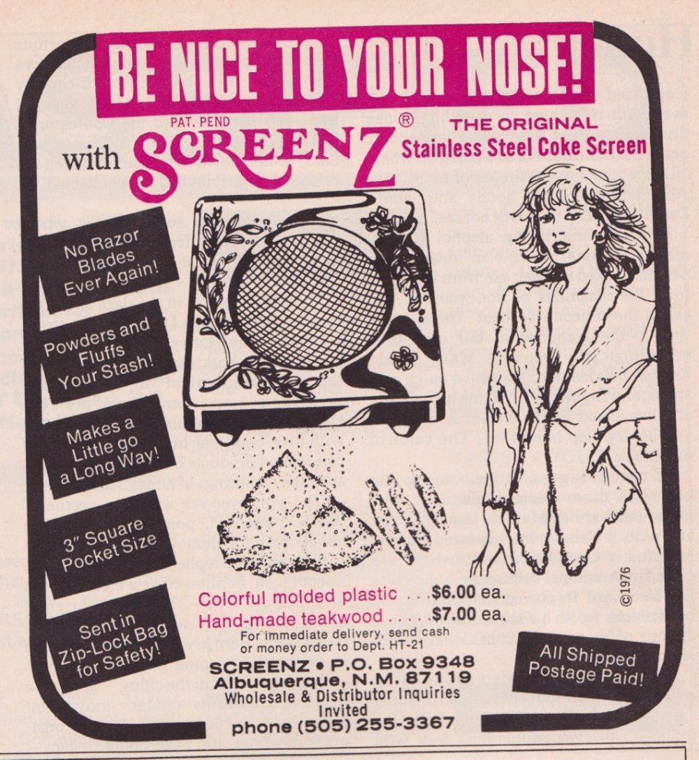asi anunciaban productos relacionados con la cocaina en las revistas de los años 70 y 80 30