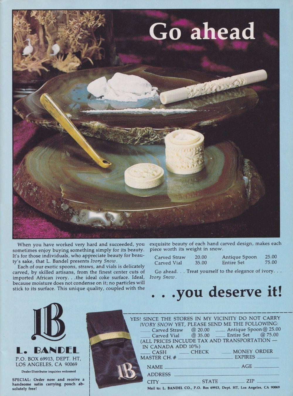 asi anunciaban productos relacionados con la cocaina en las revistas de los años 70 y 80 32