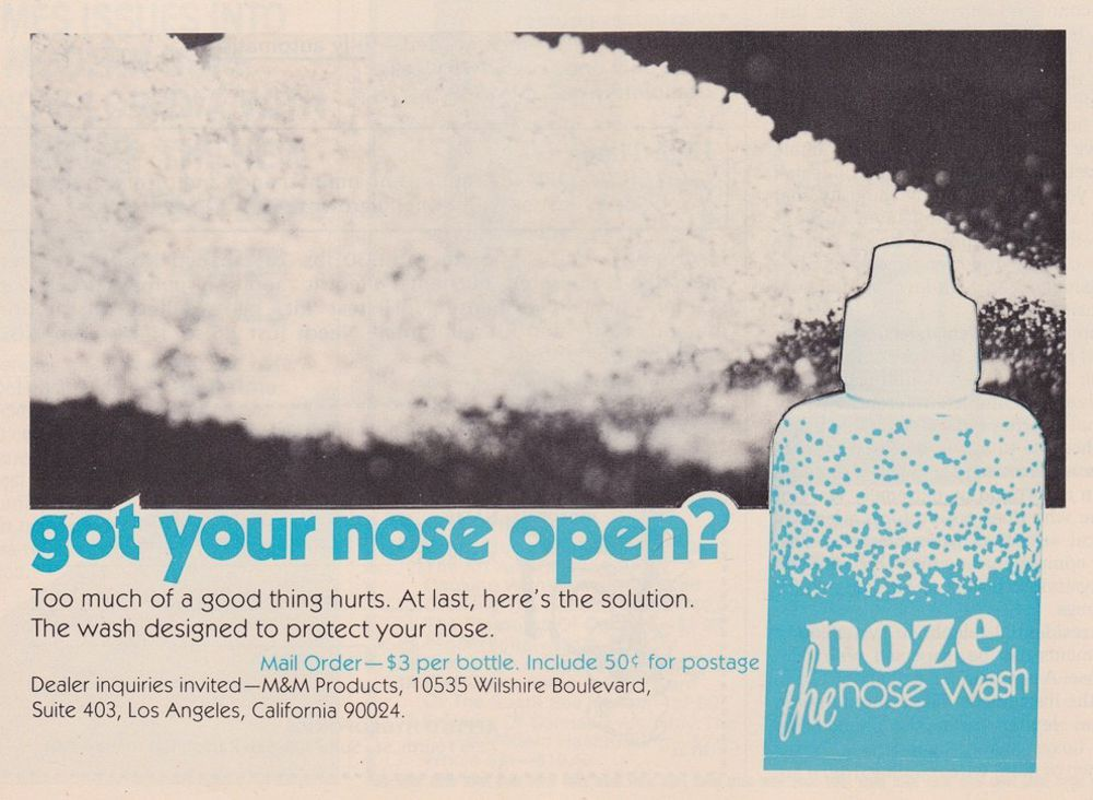 asi anunciaban productos relacionados con la cocaina en las revistas de los años 70 y 80 7