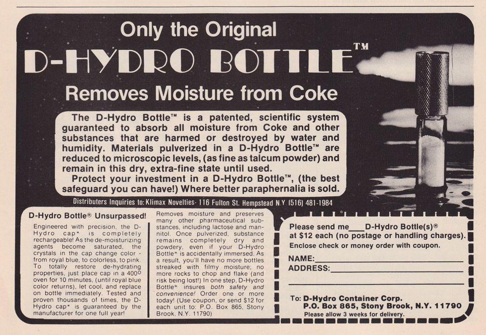 asi anunciaban productos relacionados con la cocaina en las revistas de los años 70 y 80 9