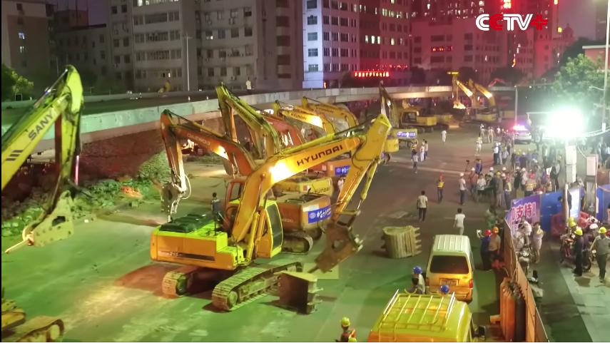 carretera demolida en una sola noche en china
