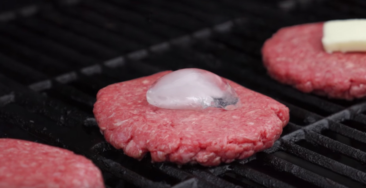 hamburguesas con hielo a la barbacoa
