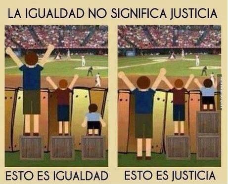 igualdad vs justicia