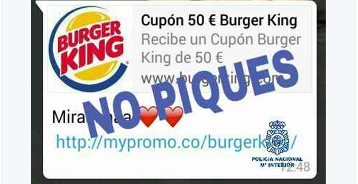 la estafa del burger king