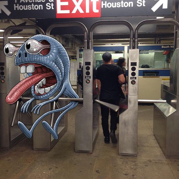 monstruos del metro de New York 12