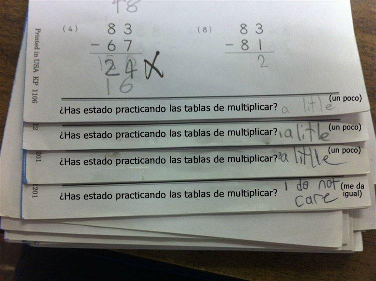 respuestas graciosas de niños a los deberes de clase7
