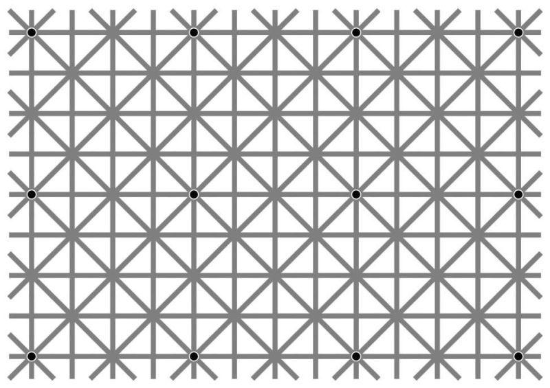 seguro que eres incapaz de ver todos los puntos a la vez
