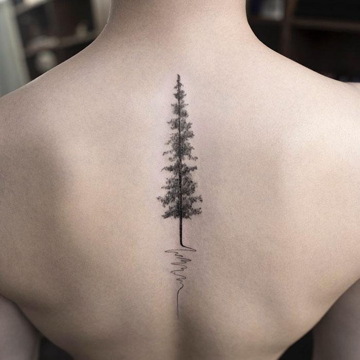 Preciosos tatuajes minimalista que triunfan en Corea del Sur