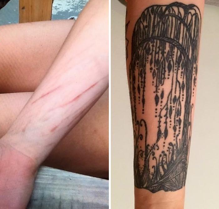 tatuajes que tapan cicatrices 14