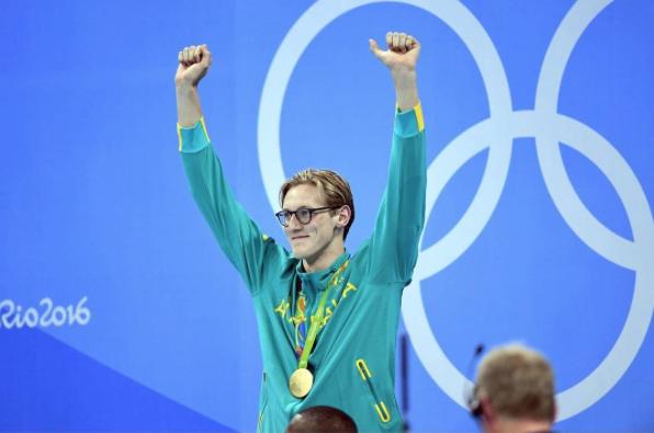 Mack Horton ganó el oro en los 400 m de estilo libre en los JJ.OO. de Río de Janerio. Vía: Instagram/mackhorton