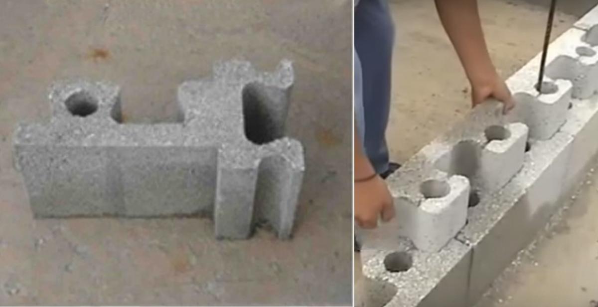 Estos ladrillos permiten construir una casa en pocas horas for Construir muro de bloques