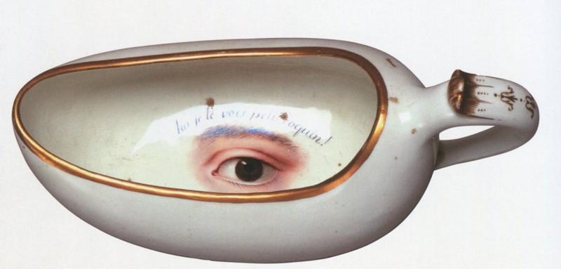 orinal con ojos