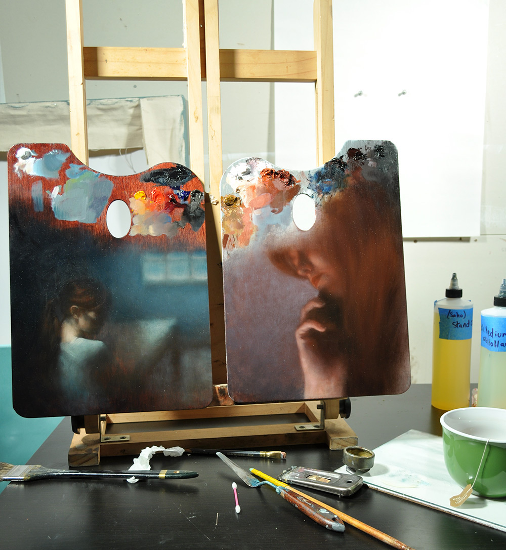 pinturas en paletas de pintura 2
