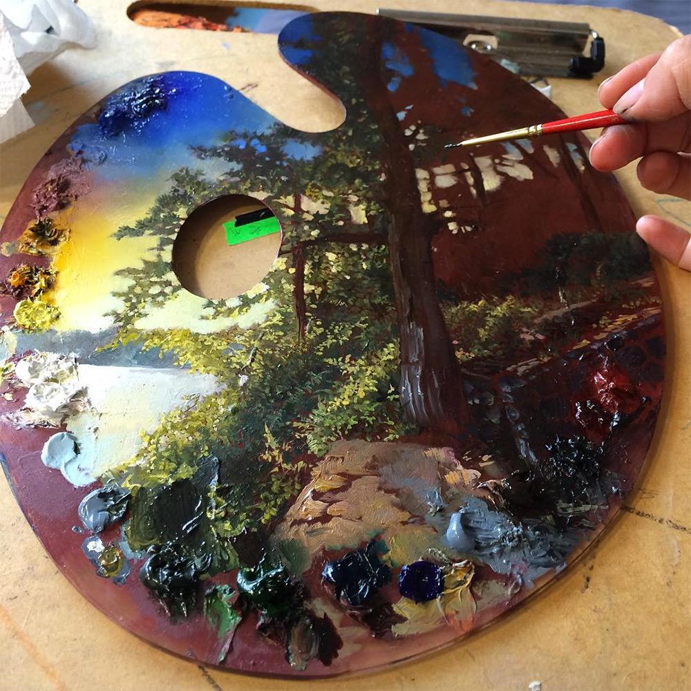 pinturas en paletas de pintura 4