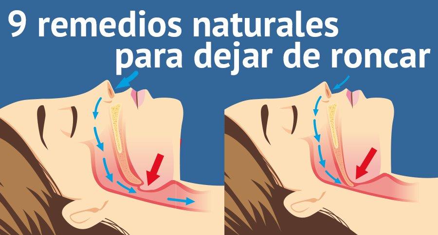 medicina natural para el roncar