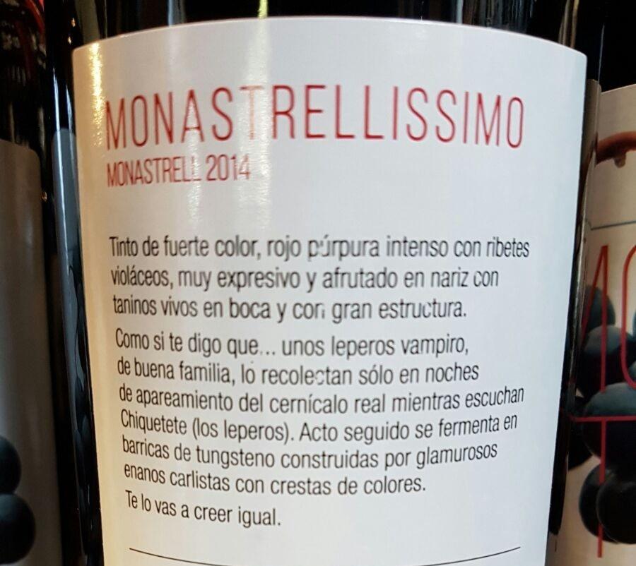 vino etiqueta