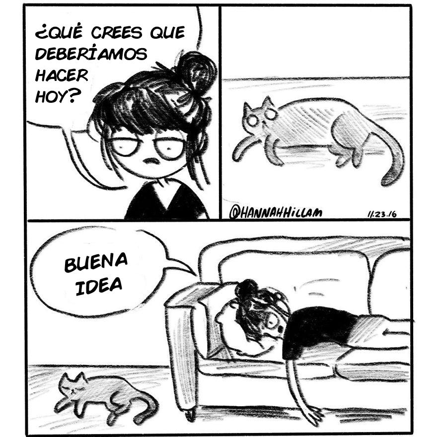 comics de gatos de Hannah Hillam 11