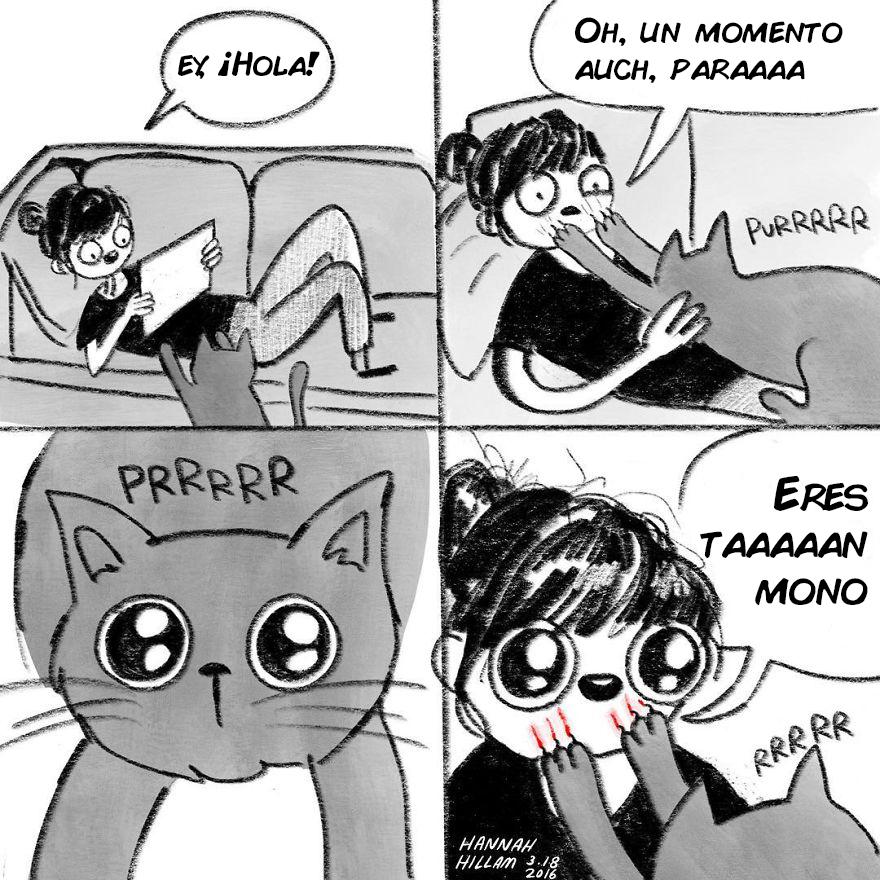 comics de gatos de Hannah Hillam 7