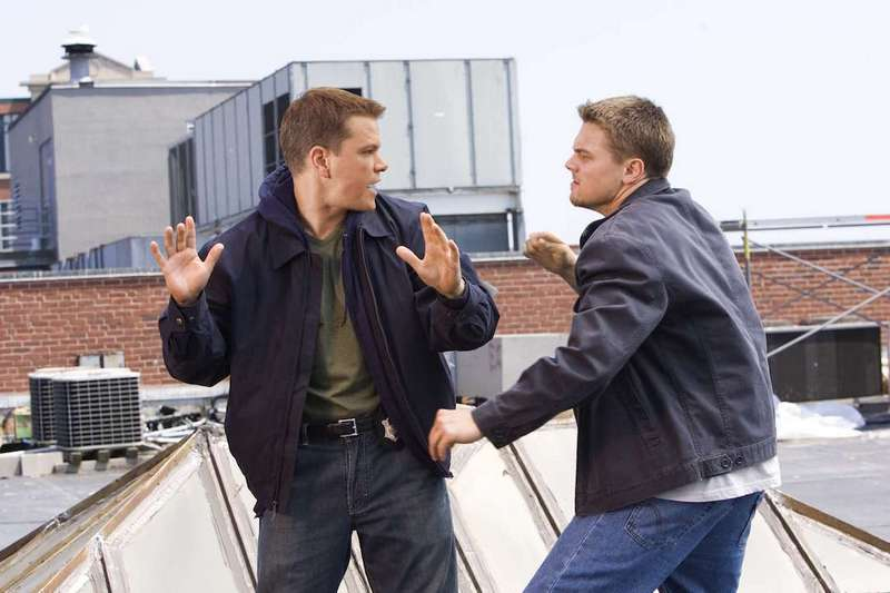 "MATT DAMON and LEONARDO DiCAPRIO star in Warner Bros. Pictures' crime drama ""The Departed."" PHOTOGRAPHS TO BE USED SOLELY FOR ADVERTISING, PROMOTION, PUBLICITY OR REVIEWS OF THIS SPECIFIC MOTION PICTURE AND TO REMAIN THE PROPERTY OF THE STUDIO. NOT FOR SALE OR REDISTRIBUTION."