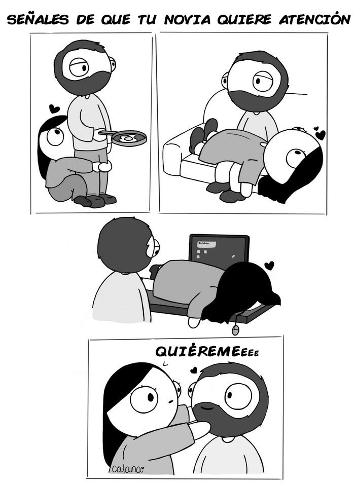 comics de catana sobre su relacion con su novio 1