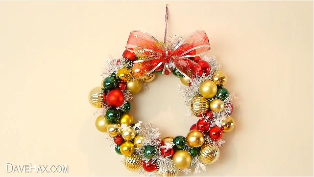 como hacer tu propia guirnalda de navidad 12