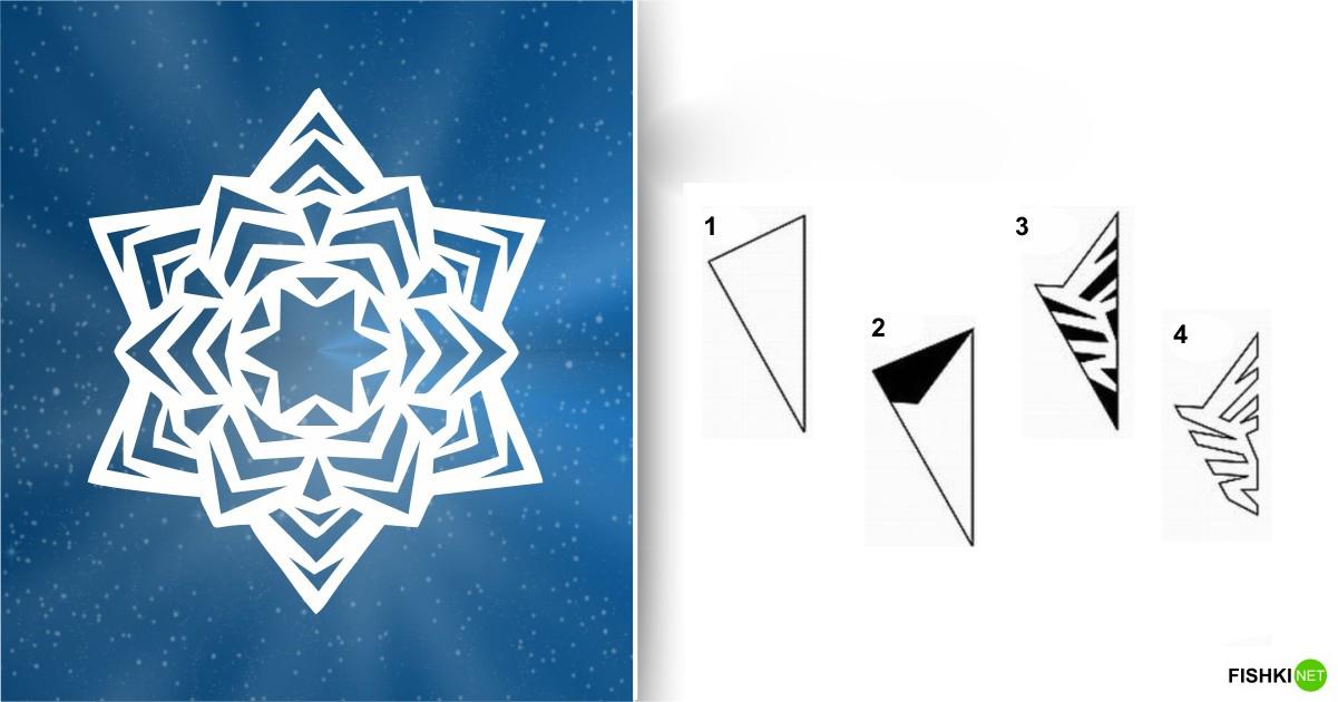 estrellas de copos de nieve de navidad con papel 11