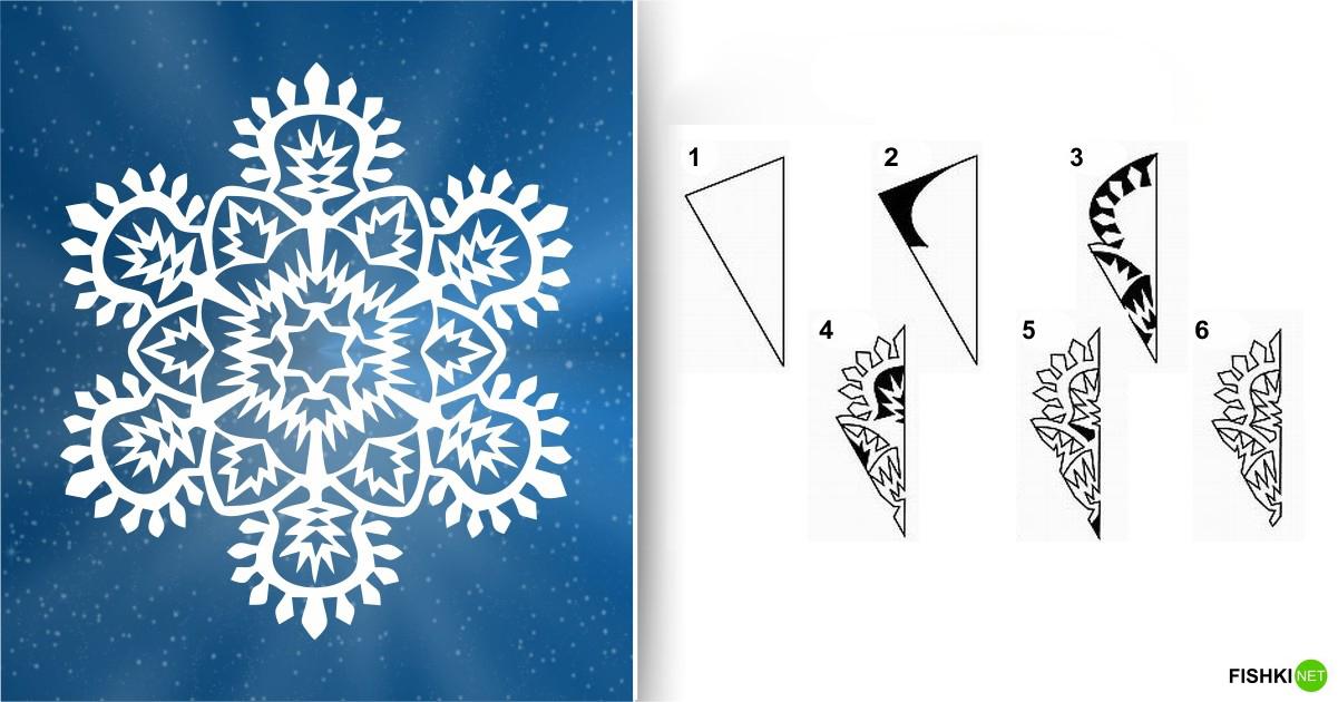 estrellas de copos de nieve de navidad con papel 12