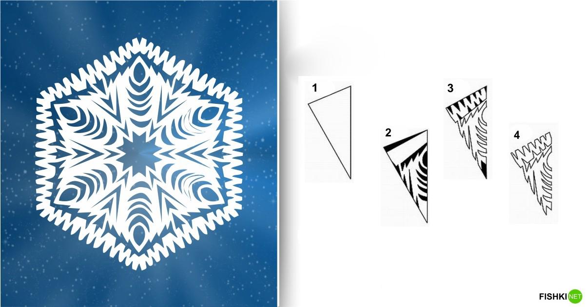 estrellas de copos de nieve de navidad con papel 13
