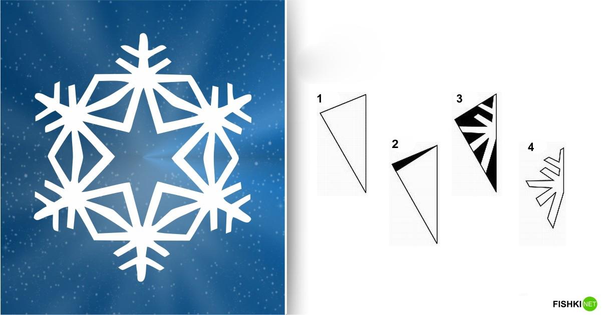 estrellas de copos de nieve de navidad con papel 14