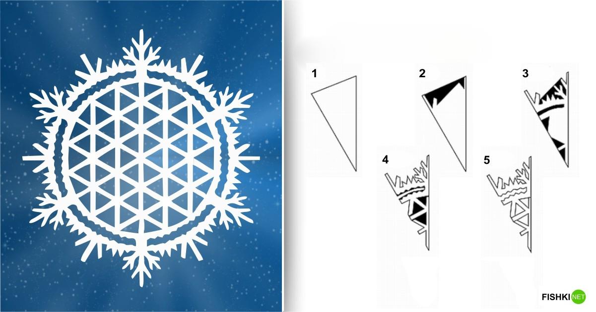 estrellas de copos de nieve de navidad con papel 2