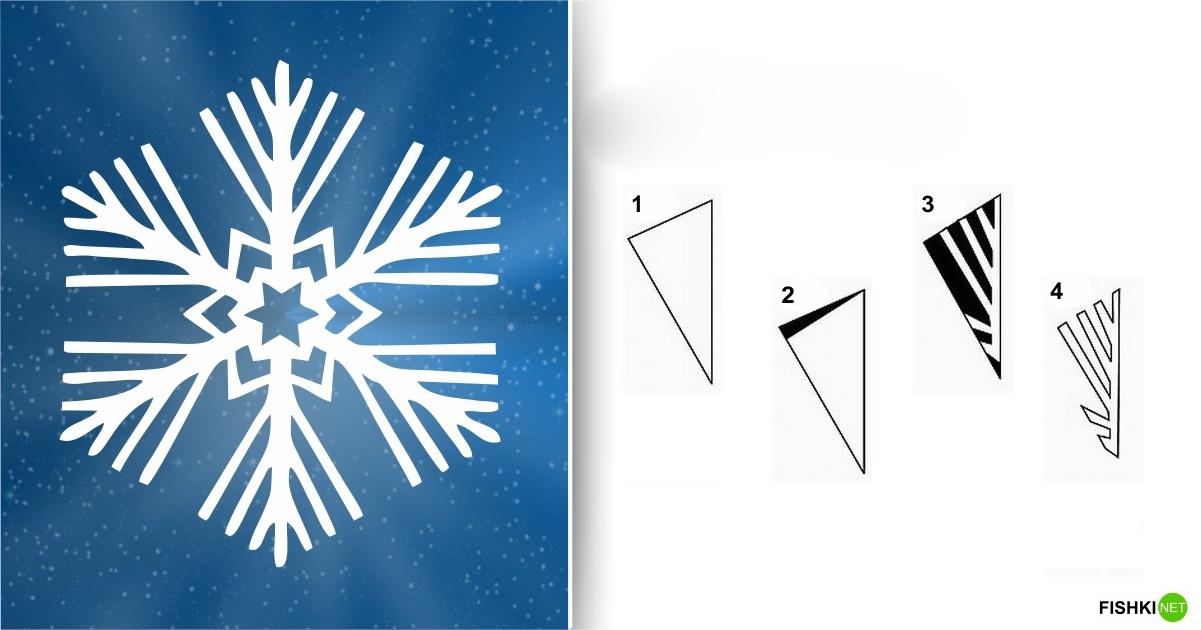 estrellas de copos de nieve de navidad con papel 4