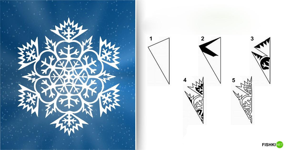 estrellas de copos de nieve de navidad con papel 7
