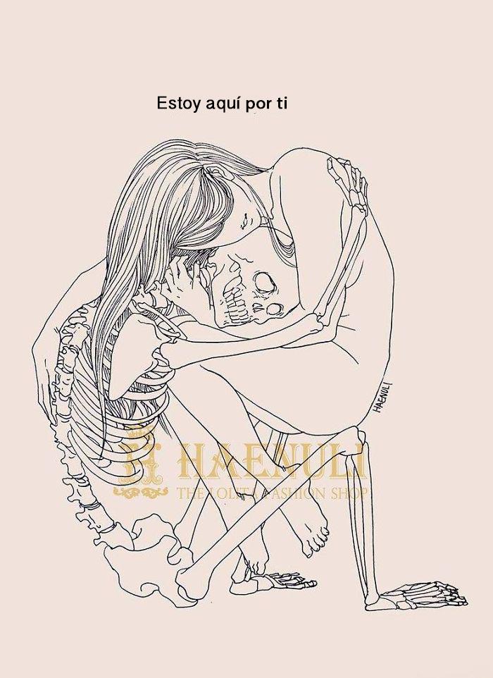 ilustraciones de una disenadora de moda sobre la depresion 4
