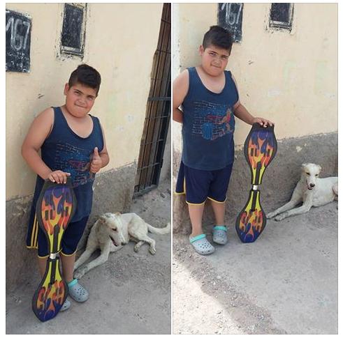 mauco vende su patinete para ayudar a rocko un perro callejero