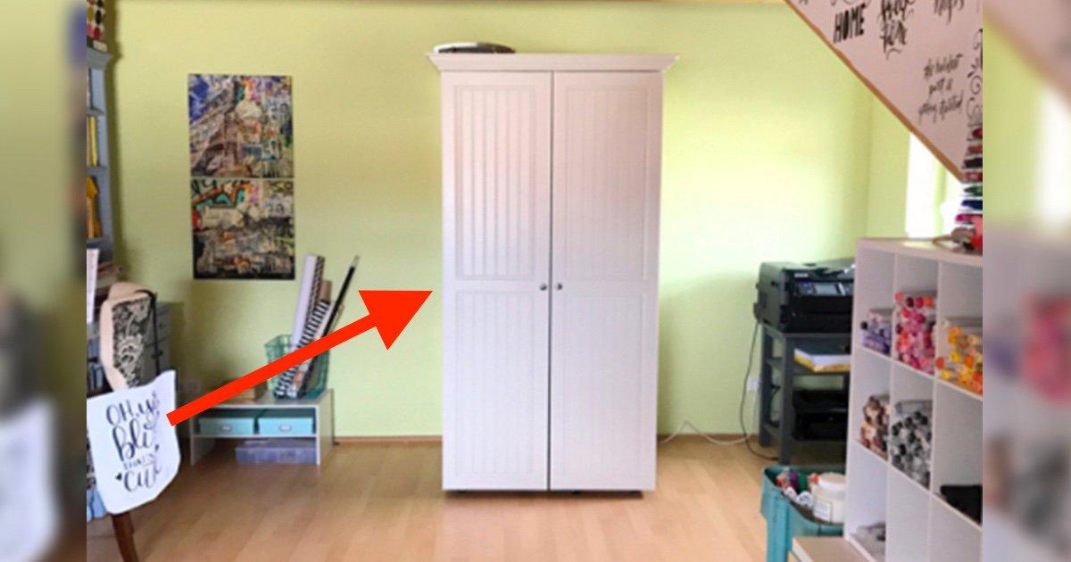 Por fuera parece un armario normal pero tienes que verlo - Vestir un armario por dentro ...