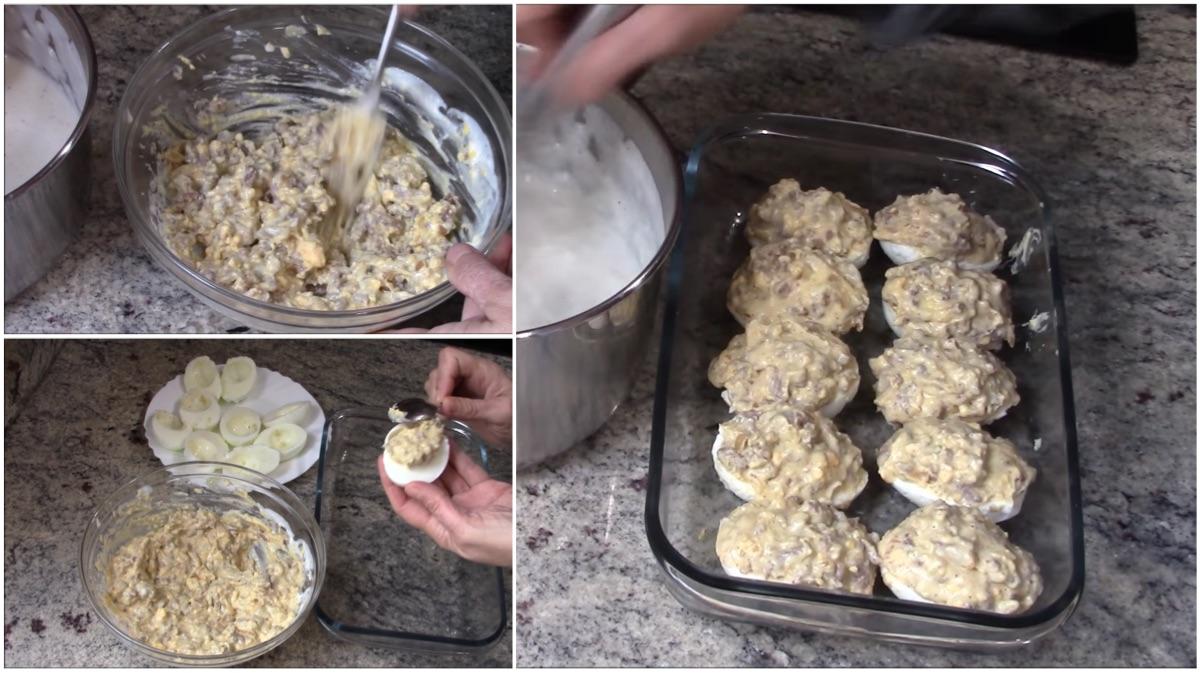 Deliciosos y sorprendentes huevos rellenos con carne y bechamel ...