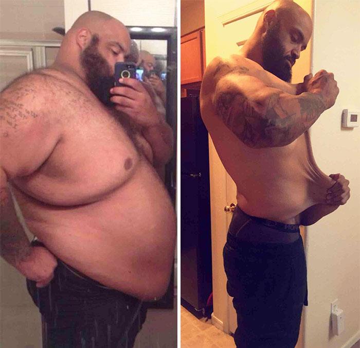 Perdiendo peso antes y despues de adelgazar