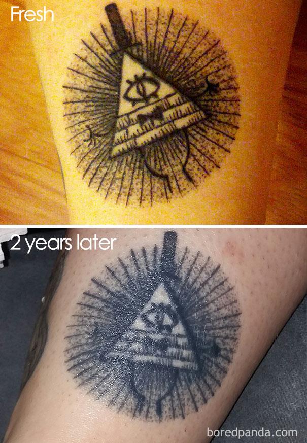 20 Imágenes De Como Puede Llegar A Quedar Un Tatuaje Con El Paso De