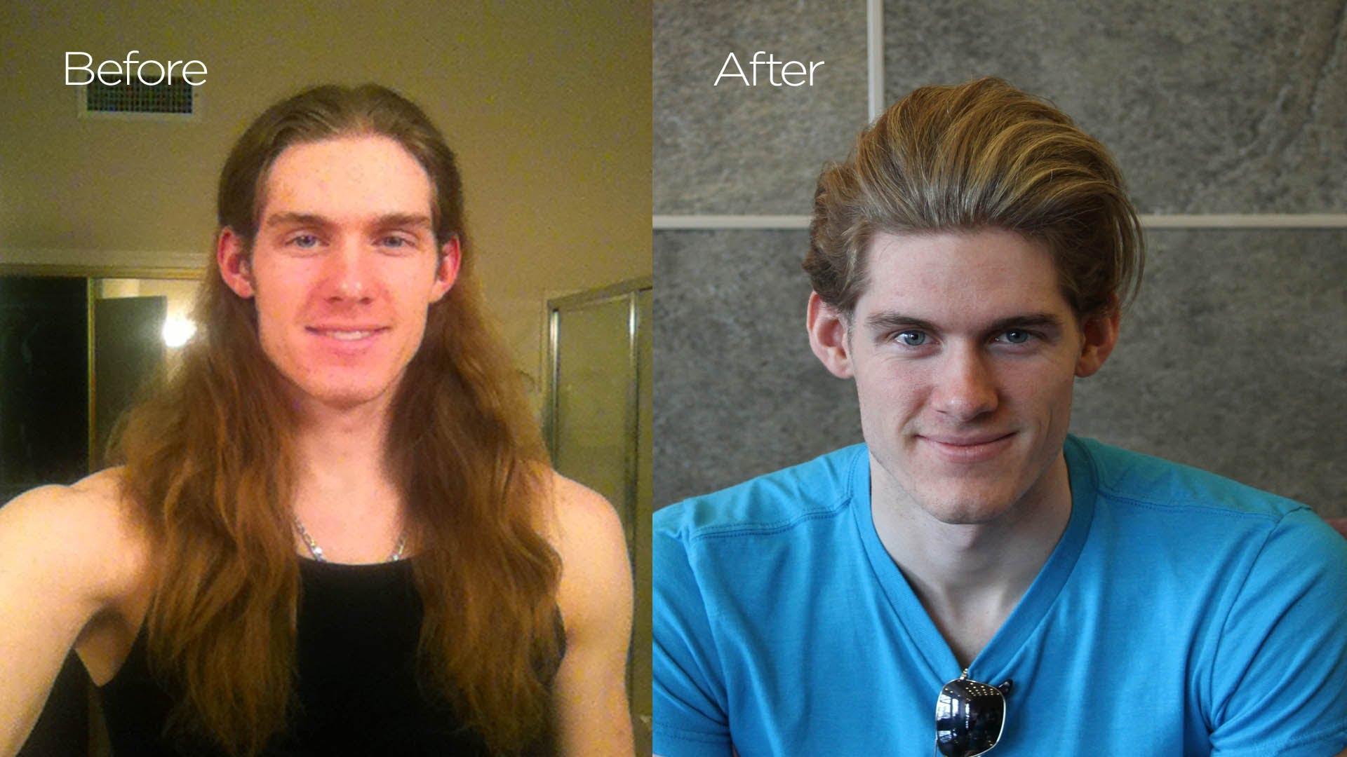 antes y despues cortes de pelo