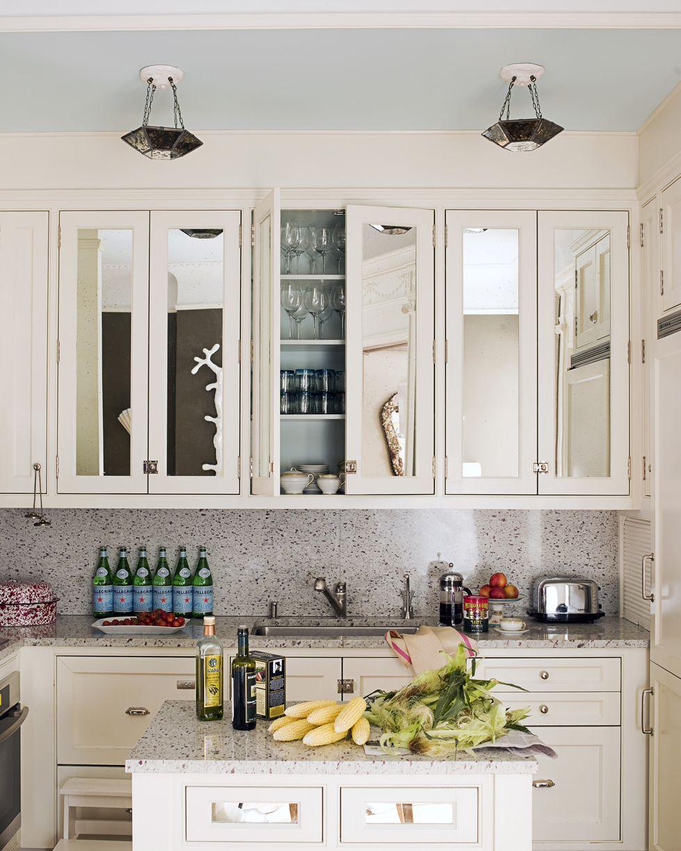 cocina con espejos