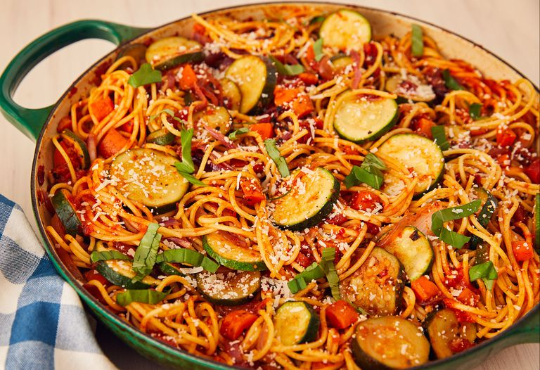 pasta con vegetales