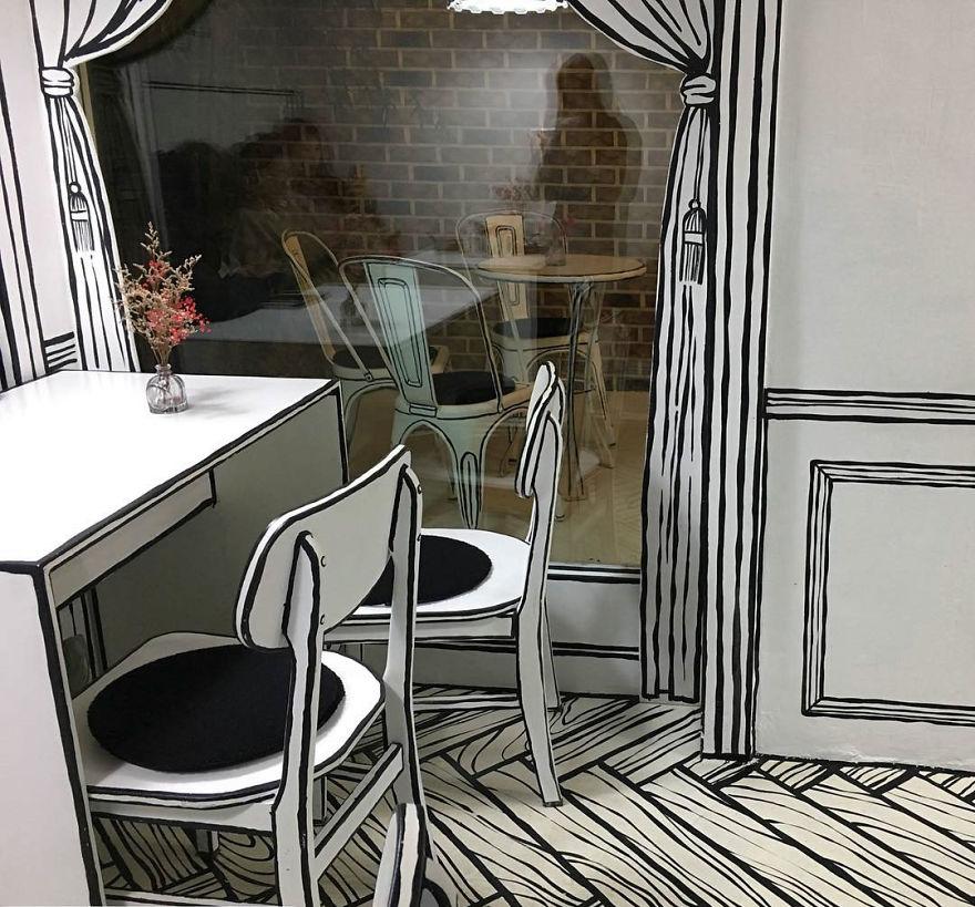 Cafés, interior